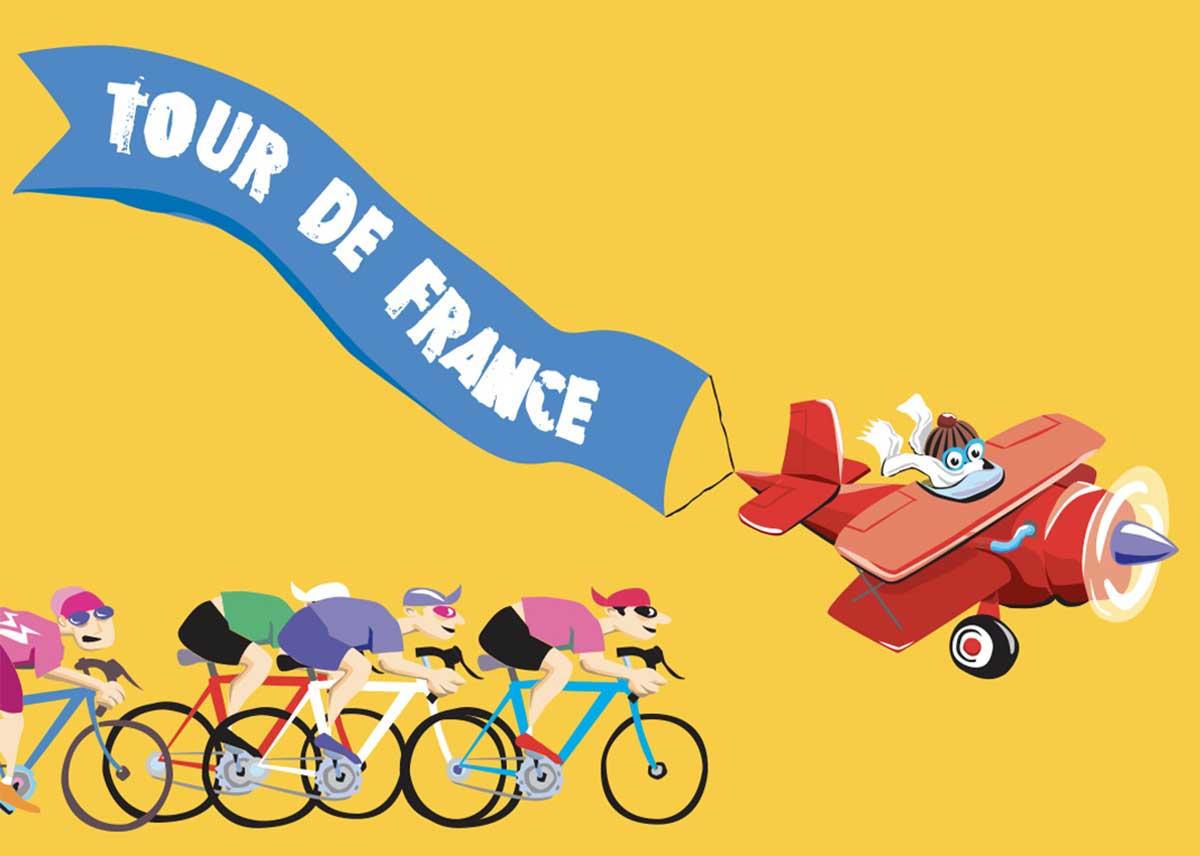 TOUR DE FRANCE NEW VISTA ILLUSTRATION
